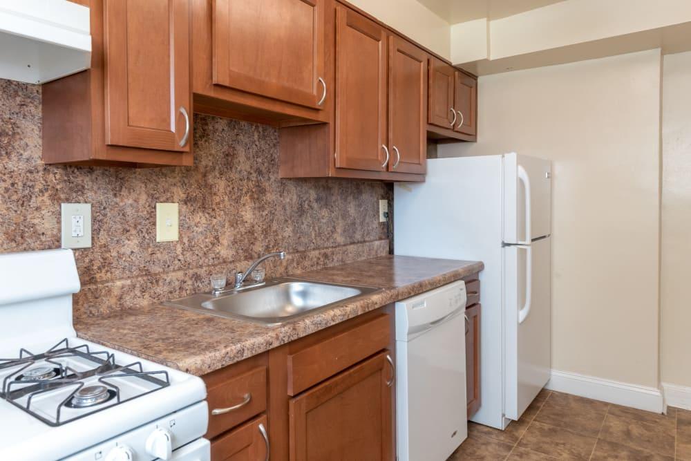Modern kitchen at Hamilton Manor in Hyattsville, Maryland