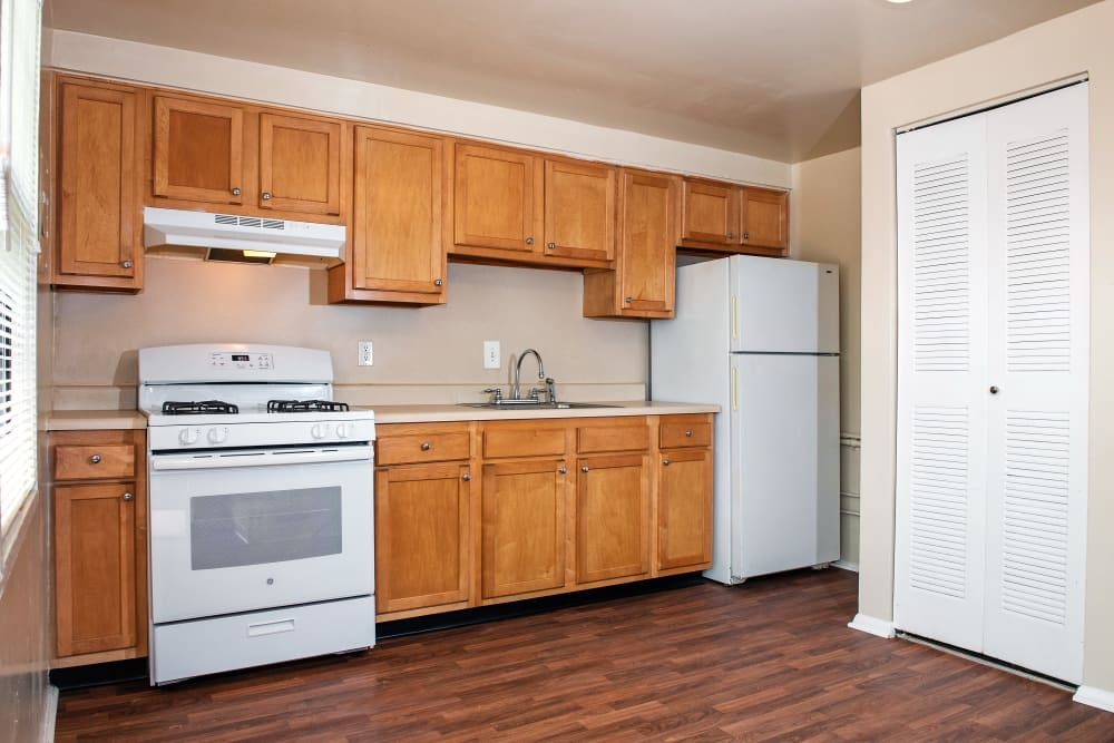 Spacious kitchen at apartments in Halethorpe, Maryland