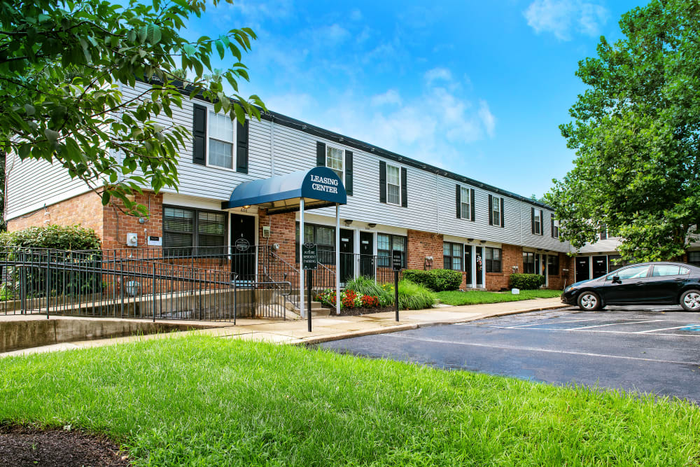 Leasing center at Riverview Townhomes in Halethorpe, Maryland