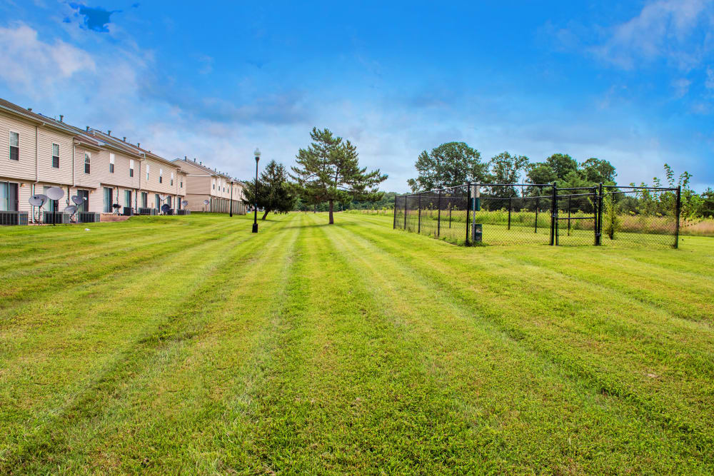 Quiet apartments with an open field in Middle River, Maryland