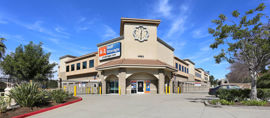 Front sign on our building at A-1 Self Storage in La Mesa, California