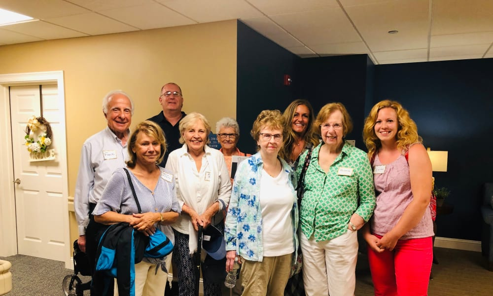 A group of future residents and their family members at Keystone Place at Wooster Heights in Danbury, Connecticut.
