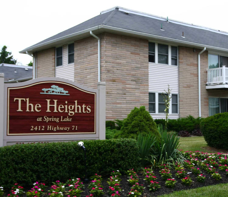 Welcome exterior sign at The Heights at Spring Lake in Spring Lake, New Jersey