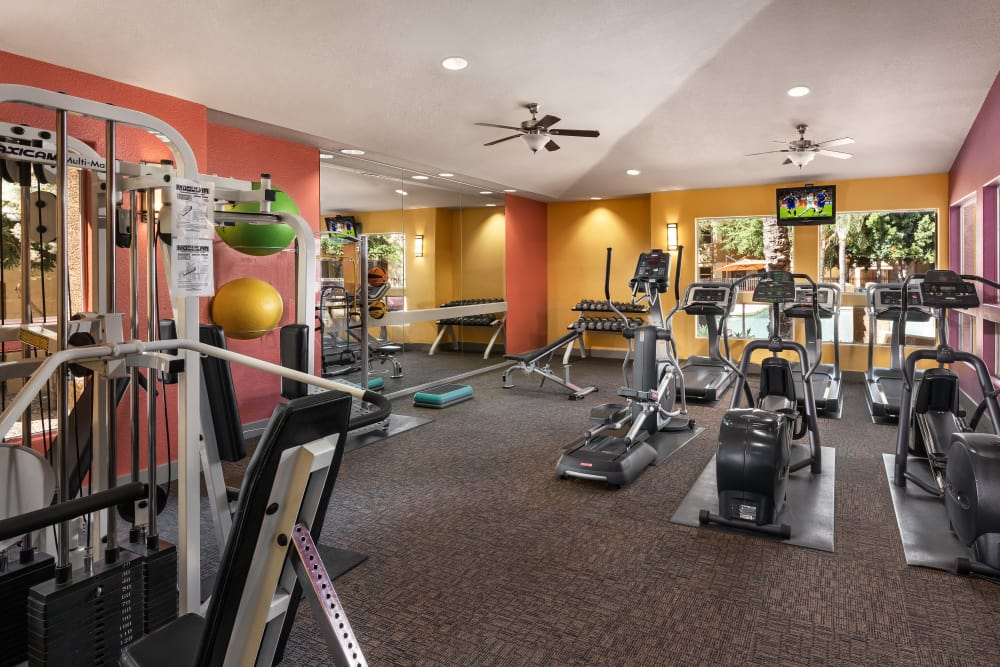 Onsite fitness center at Bellagio in Scottsdale, Arizona