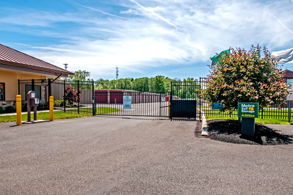 Access gate at Metro Self Storage in North Wales, Pennsylvania