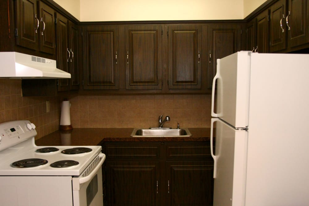 Beautiful kitchen at Terrace Lake Apartments in Bradley Beach, NJ