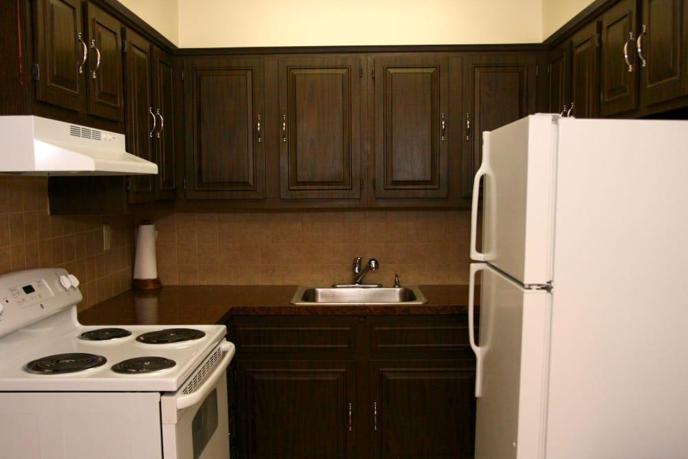 Beautiful kitchen at Terrace Lake Apartments