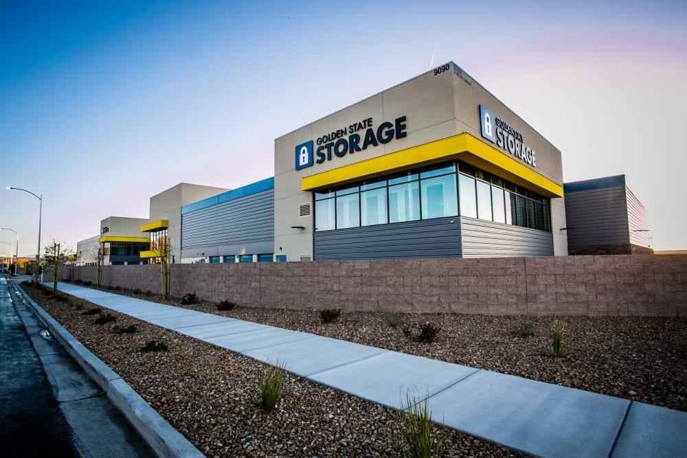 Parking lot outside of Golden State Storage - Blue Diamond in Las Vegas, Nevada