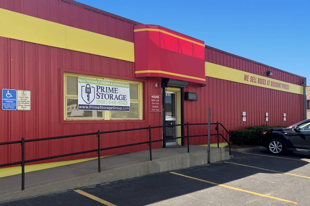 Entrance at Prime Storage in Hyde Park, Massachusetts