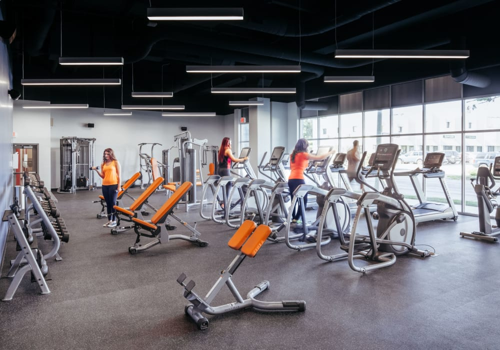 Community fitness center at West Quad in Champaign, Illinois