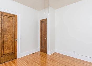 Coat closet at Mayflower Apartments