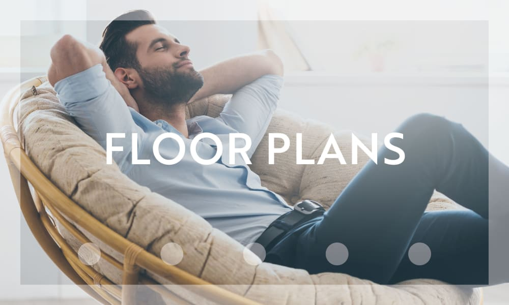 Floor plans at Polos on Park in Tallahassee, Florida
