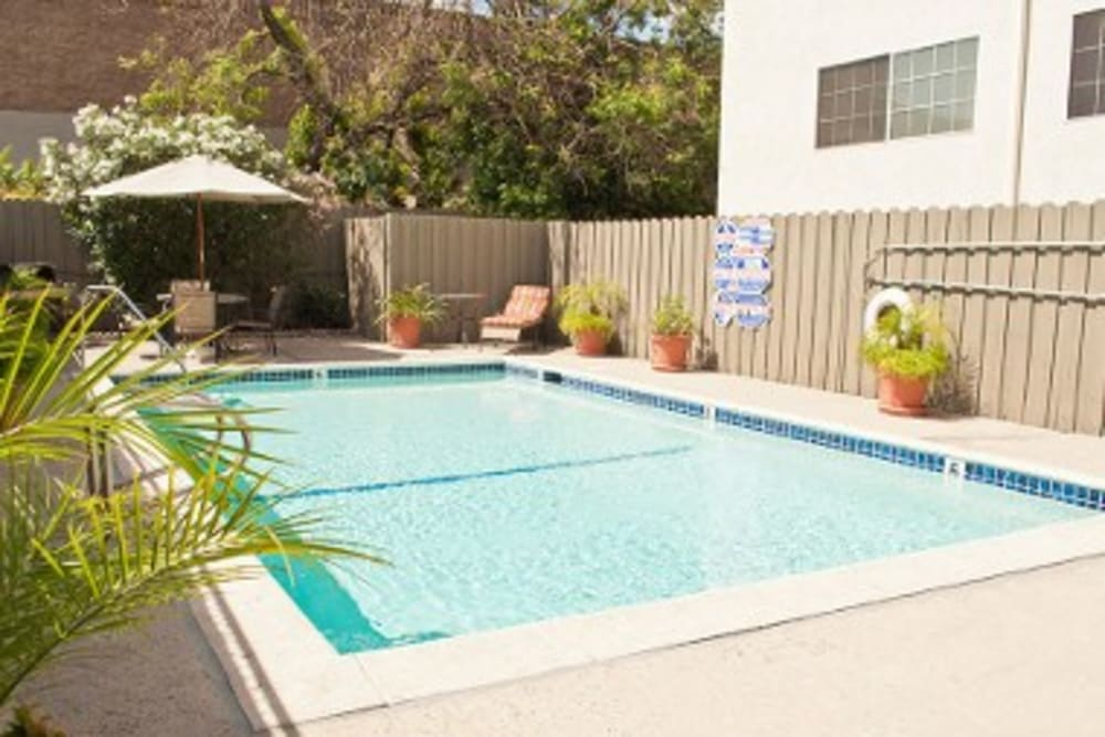 Furnished pool at The Newporter