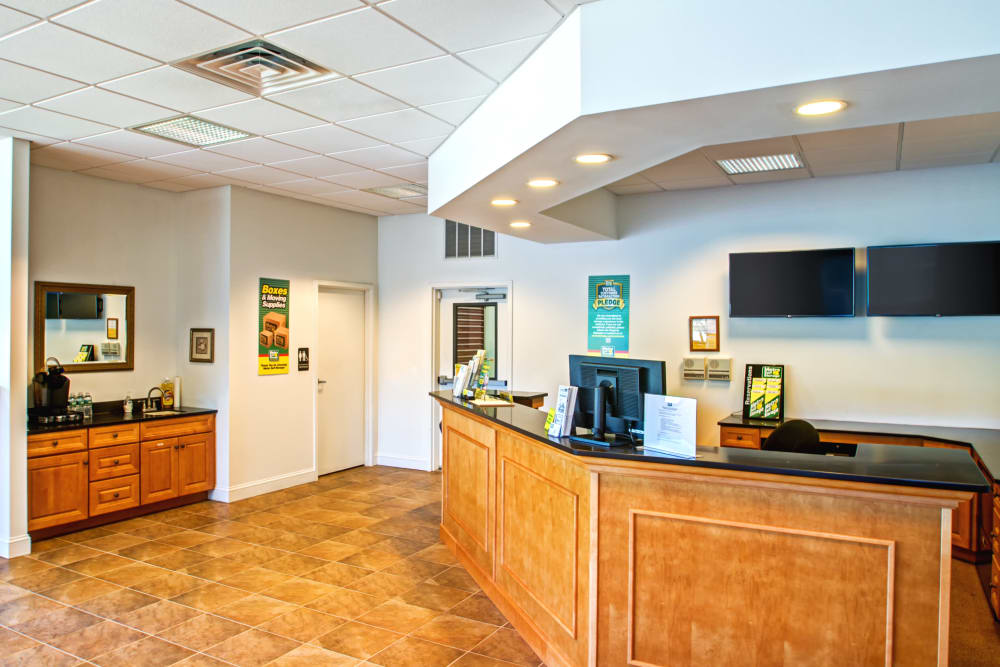 Leasing office reception at Metro Self Storage in North Wales, Pennsylvania