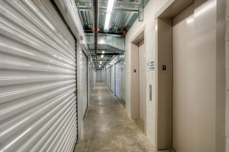 Interior hallway at StorQuest Self Storage