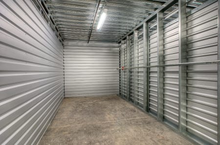 Inside of a storage unit at StorQuest Self Storage in West Babylon, New York