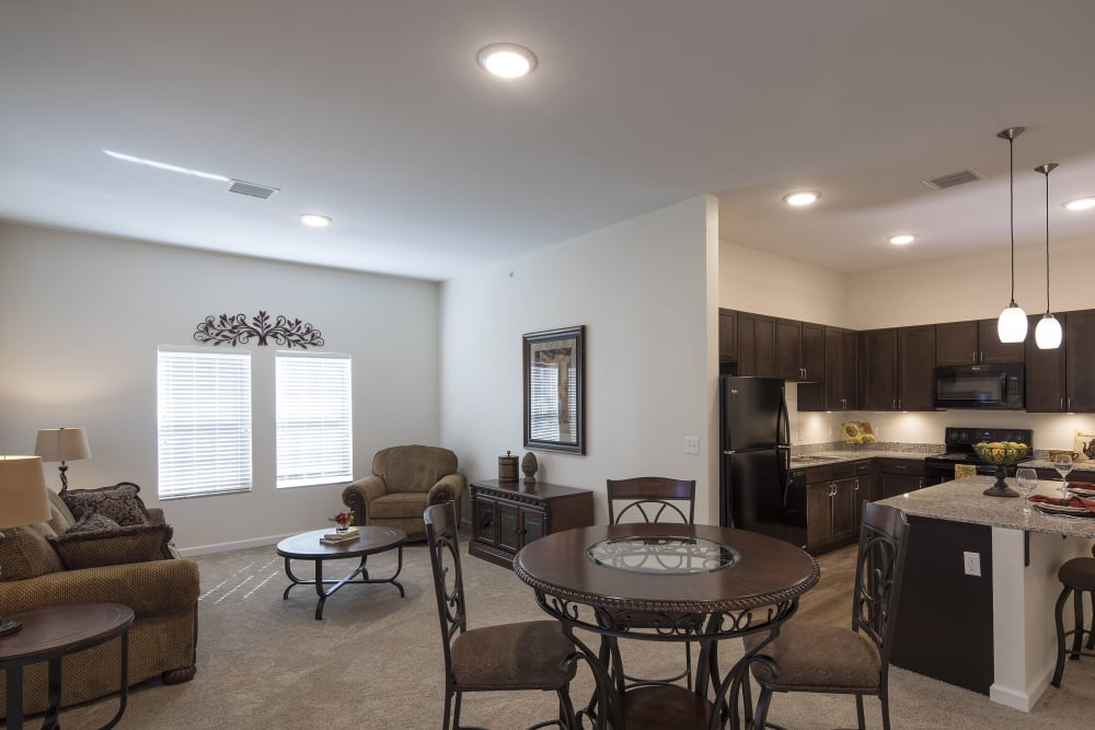 Cozy Oxford Villa Active Senior Apartments floor plans