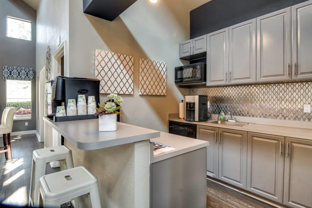 Clubhouse kitchen at Terra Nova Villas in Chula Vista, California