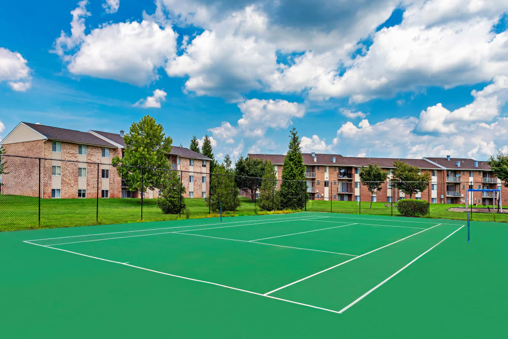 Great for entertaining tennis court at Commons at White Marsh Apartments in Middle River, Maryland