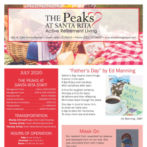 July The Peaks at Santa Rita Newsletter