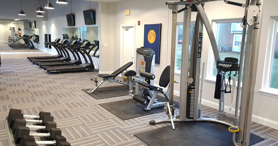 Beautiful fitness center at Windscape of Naperville Apartments in Naperville, IL