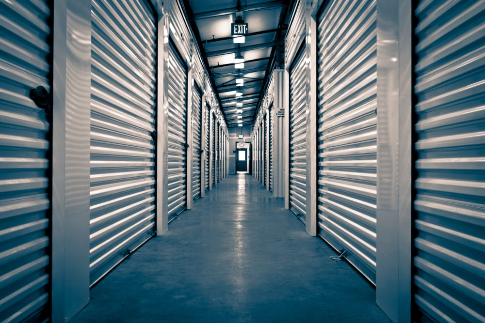 Indoor storage units at Safe Storage in Kennebunk, Maine