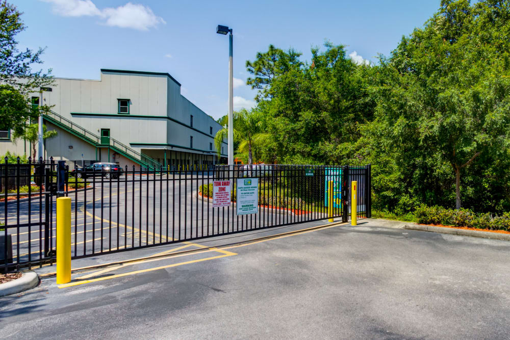 Access gate at Metro Self Storage in Tampa, Florida