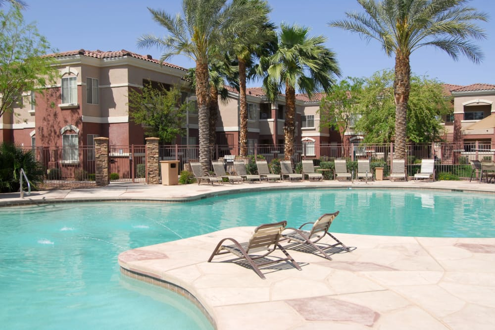 Beautiful swimming pool at Remington Ranch in Litchfield Park, Arizona