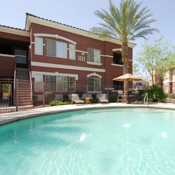 Beautiful resort-style swimming pool at Remington Ranch in Litchfield Park, Arizona