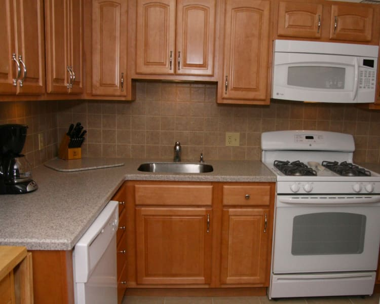 Spacious kitchen at Pompton Gardens in Cedar Grove, NJ