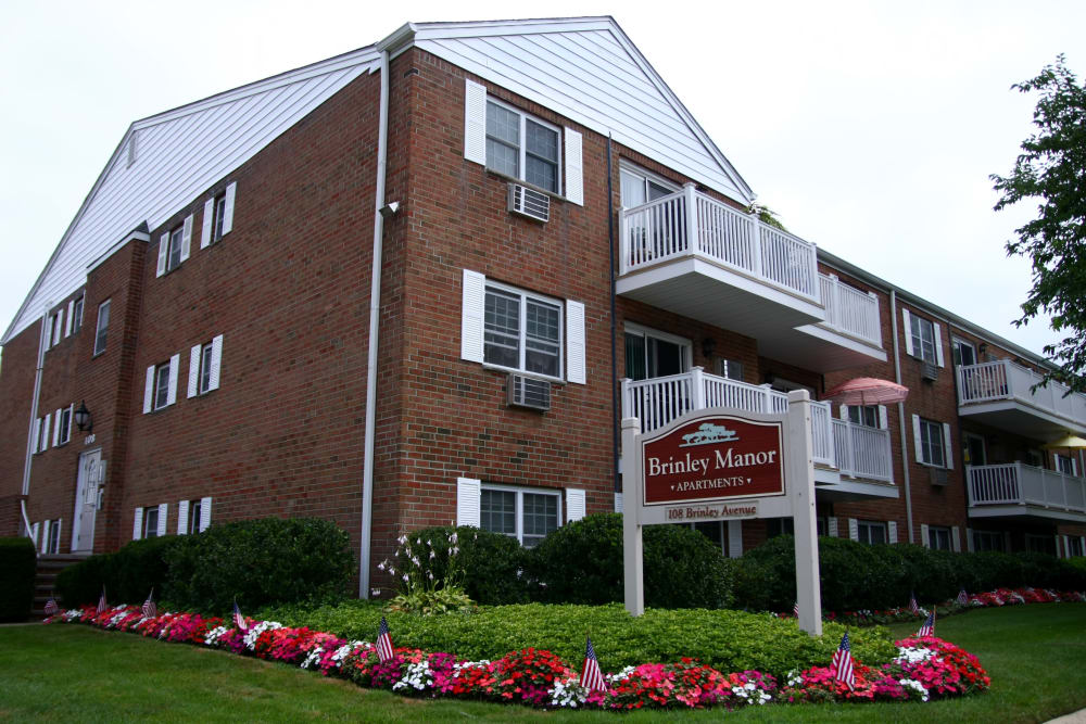 The exterior of Brinley Manor apartments in Bradley Beach, New Jersey