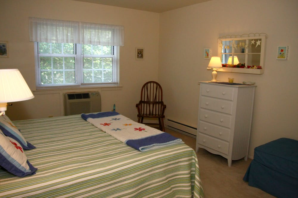 Bedroom at apartments in Bradley Beach, New Jersey