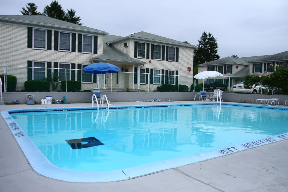 Beautiful swimming pool at Shenandoah Arms in Spring Lake, NJ