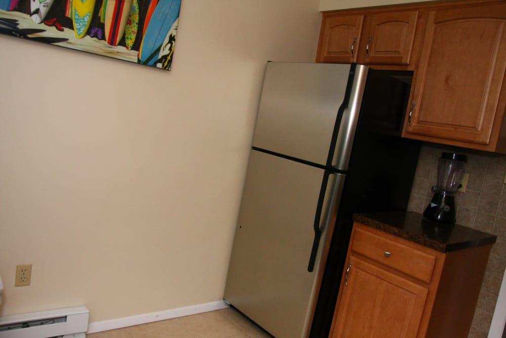 Refrigerator and blender at Shenandoah Arms
