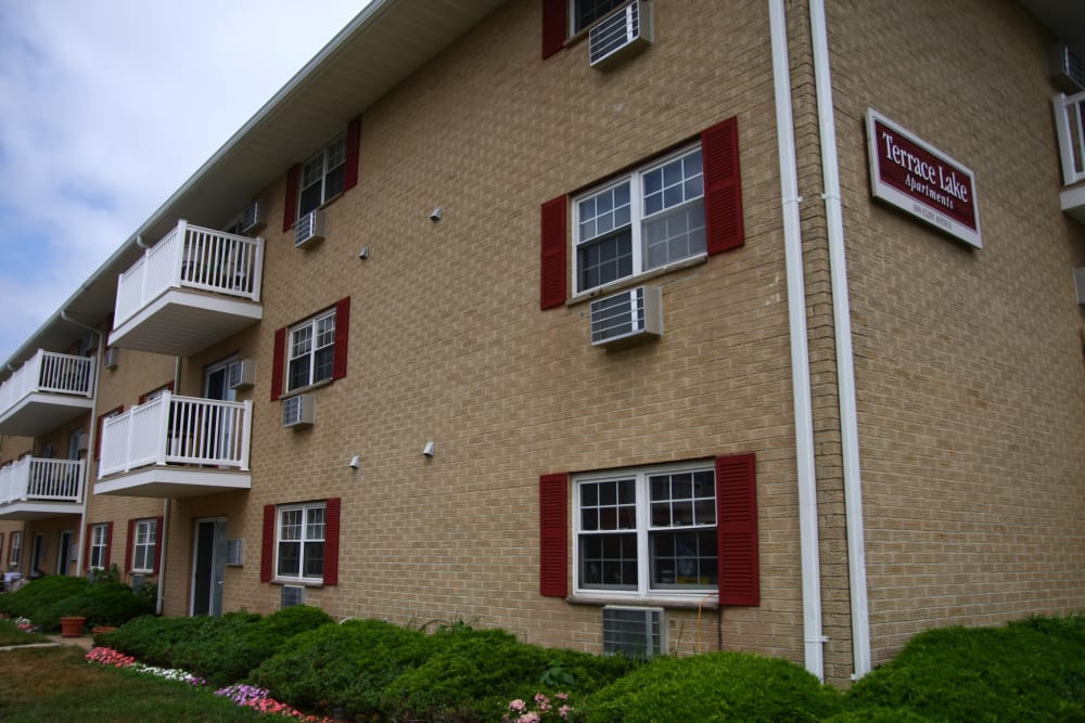 Closer view to the private balconies at Terrace Lake Apartments in Bradley Beach, NJ