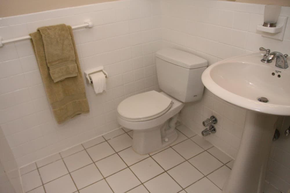 Sparkling bathroom at Carlyle Towers