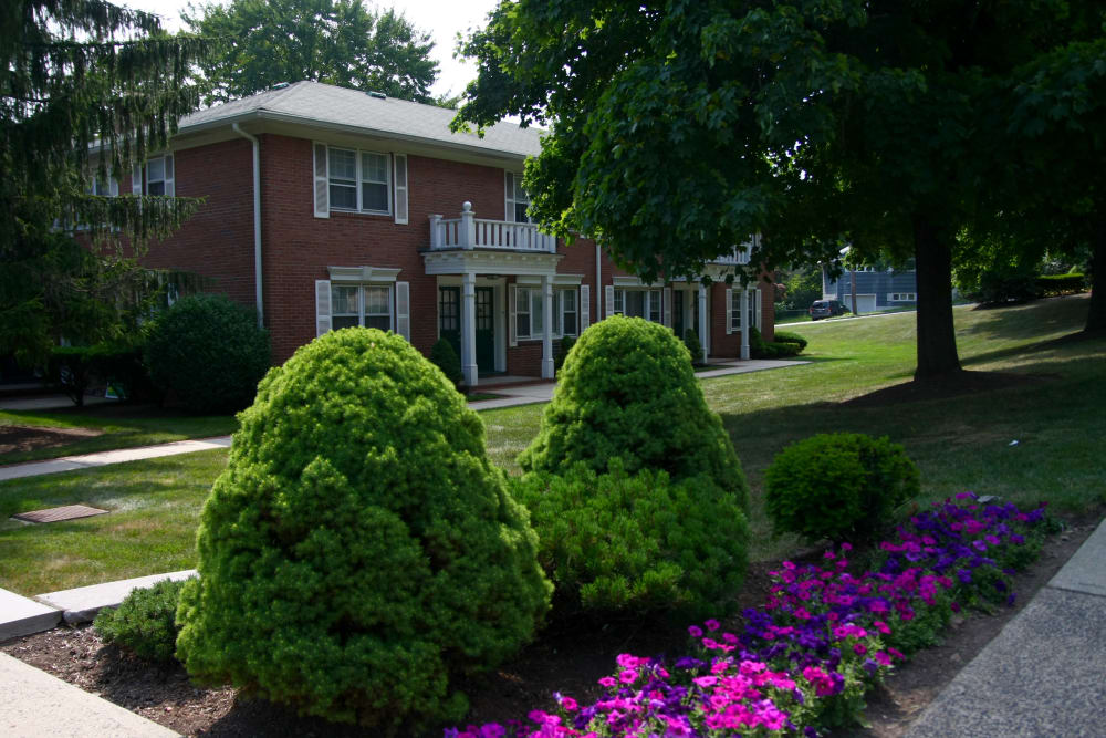 Beautifully maintained landscaping at Cedar Village