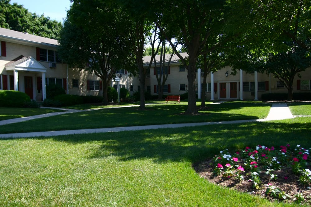 Well maintained green spaces at Cloverdale Associates