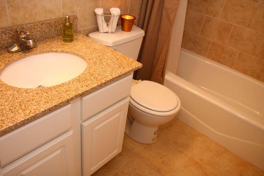 Spacious bathroom with tub at Cloverdale Associates