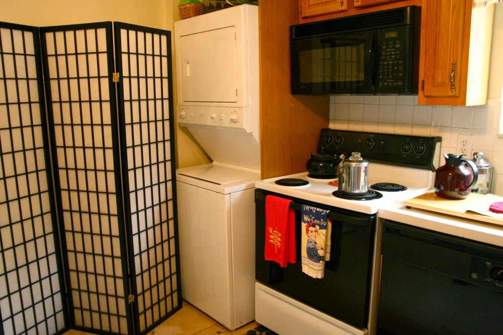 Enjoy a beautiful washer/dryer at Haddon Knolls Apartments