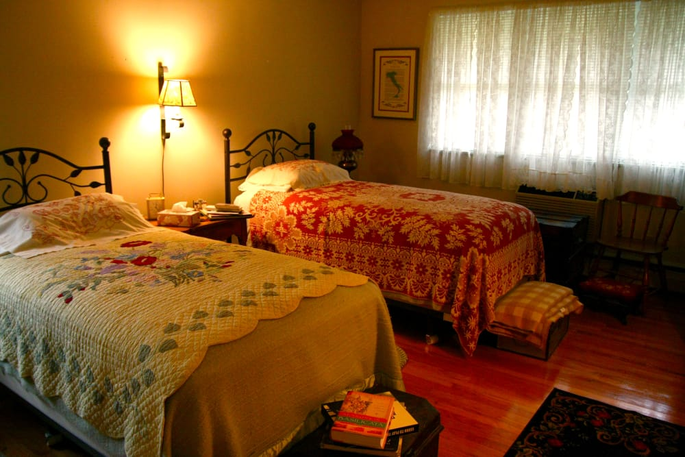 Cozy bedroom at Haddon Knolls Apartments in Haddon Heights, NJ