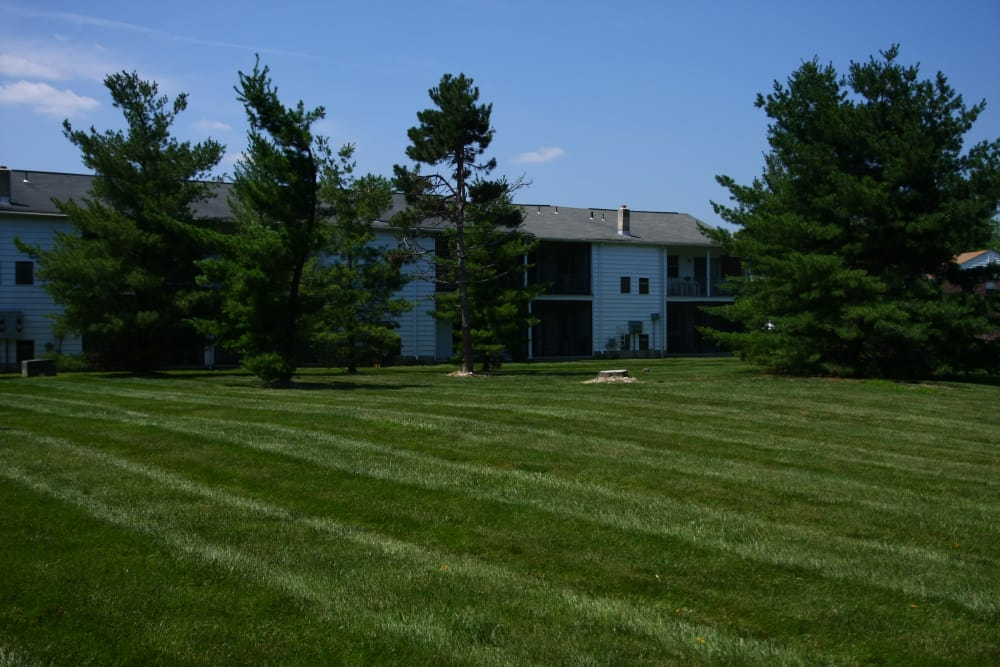 Our outdoor green spaces are immaculate at Kuser Village in Hamilton