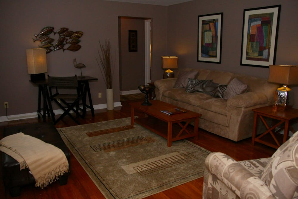 Spacious living room at Lalor Gardens