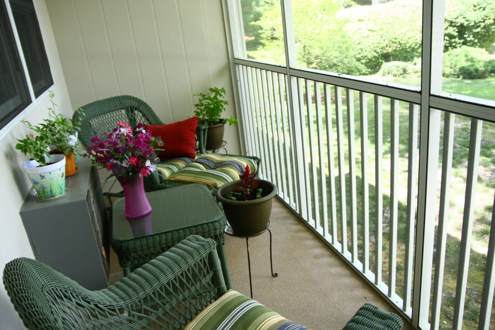 Enjoy a beautiful private patio at Park Apartments