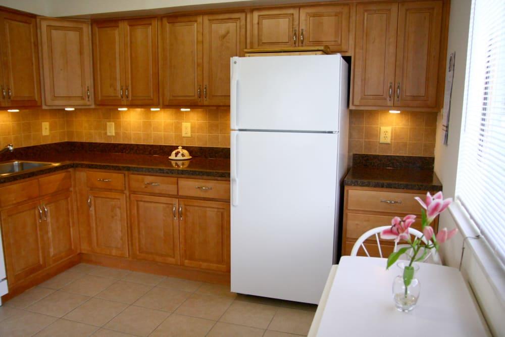 White refrigerator at Timber Ridge