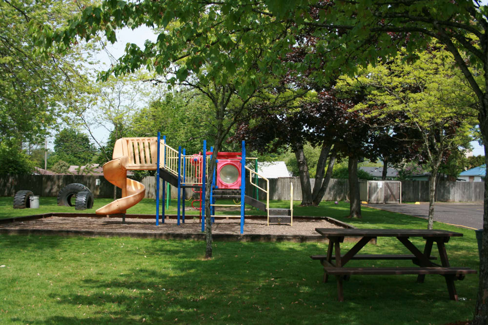 Kings Court offers a spacious playground in Springfield, Oregon
