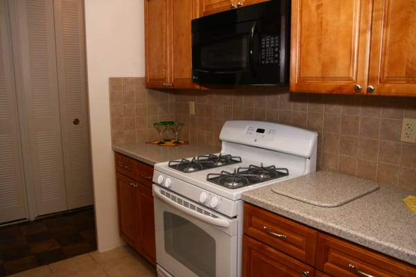 Kitchen model at Carlyle Towers in Caldwell, NJ