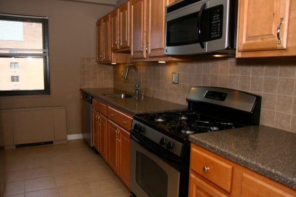 Kitchen model at Chilton Towers in Elizabeth, NJ