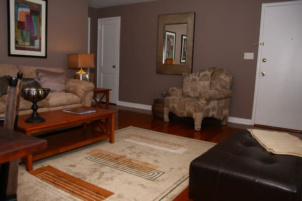 Spacious living room at Lalor Gardens in Hamilton, NJ