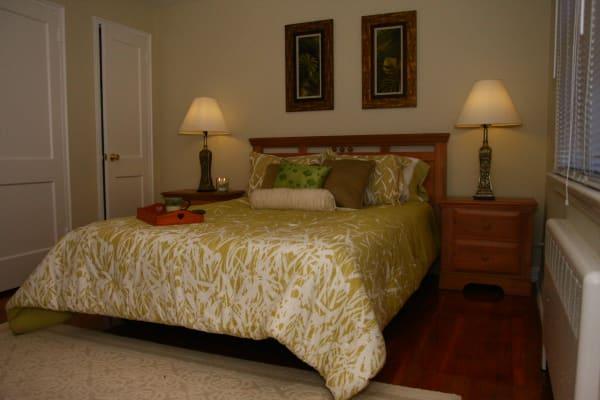 Bedroom model at Lalor Gardens in Hamilton, NJ